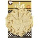 "Canvas Corp Burlap Hand Sewn Flower 4"" - Sand"